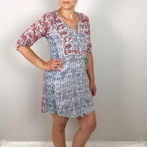 ANTHROPOLOGIE Tiny Perenne Floral shirt dress